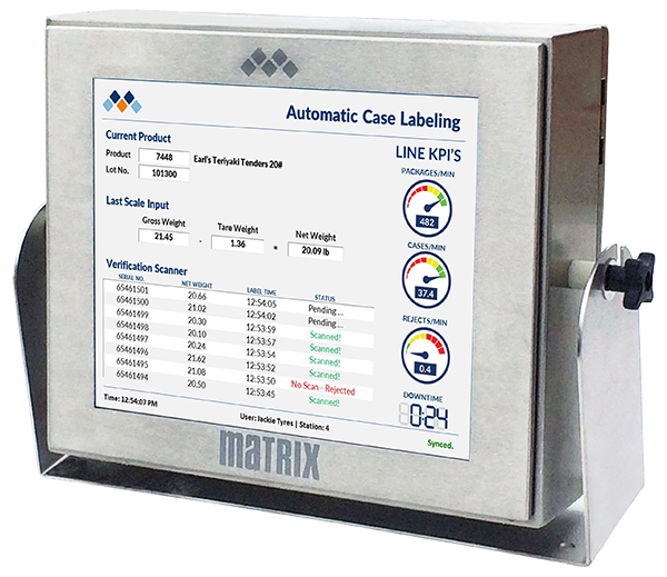 Matrix :: Industrial PC based case labeling systems